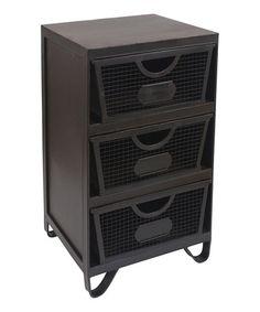 Another great find on #zulily! Metal Three-Drawer Cabinet #zulilyfinds