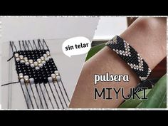 Pulsera Miyuki de mostacillas | sin Telar! - Diy Cute - YouTube Loom Bracelet Patterns, Beaded Bracelets Tutorial, Bead Loom Bracelets, Diy Bracelet Designs, Friendship Bracelets With Beads, Beading Tutorials, Loom Beading, Bead Art, Bead Weaving
