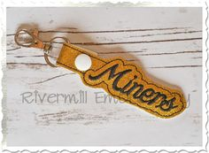 $2.95Miners In The Hoop Snap Tab Key Fob Machine Embroidery Design