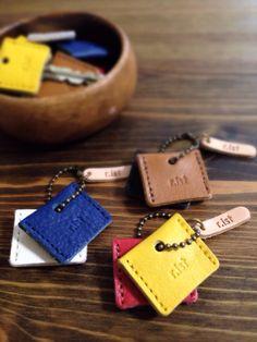 2色選べるキーカバー/牛革のキーカバー♯全6色【郵便送料無料サービス】の画像1枚目