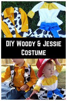 Sew up your own Woody and Jessie toy story costumes for your little boy or girl