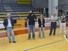 Il Sindaco Alessandri saluta la squadra il primo giorno di preparazione a Monterotondo.