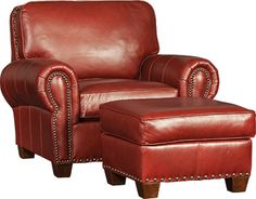 Mayo Furniture 5790lf Leather Fabric Chair And Ottoman