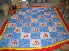 Pictures of Baby Quilts for Boys: Gene's Sailboats Quilt