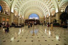 The main hall of Washington Union station in Washington, DC.