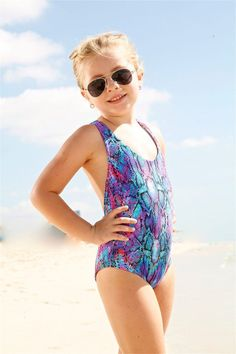 Peixoto Kids Flamingo One Piece Swimsuit. Eye catching would be the perfect adjective to describe this Peixoto kids swimwear. #kidsonepiece