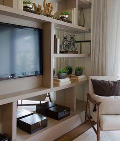 Uma ideia muito legal para uma sala com pouca largur