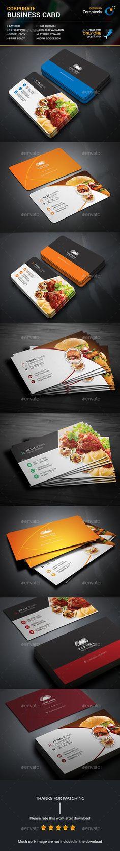 Restaurant Business Card Templates PSD Bundle More