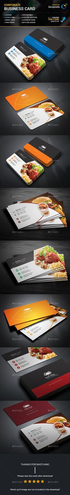 Restaurant Business Card Templates PSD Bundle                                                                                                                                                                                 More