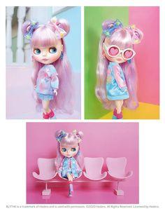 TAKARA TOMY NEO Blythe Shop Limited Sweet Bubbly Bear Doll Figure From Japan F//S