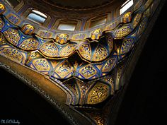 Inside dome of Al-Rifa'i Mosque Cairo Cairo Citadel, Life In Egypt, Beautiful Mosques, Islamic Architecture, Cairo Egypt, Sacred Art, Islamic Art, Old Things, Wood Work