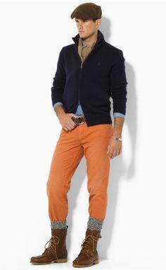 orange chino pant