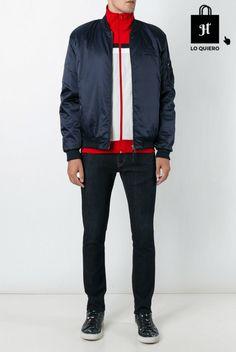 Cazadoras de hombre modelo bomber azul Adidas #Bomber #Moda #ModaHombre #Hombre #Tendencias