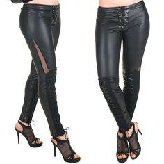 Legging Negro Con Cruzado