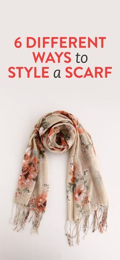 6 ways to style a scarf