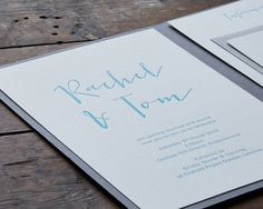 Luxury Letterpress Calligraphy Pocket Wedding Stationery by Wolf & Ink by Wolf & Ink Classic Wedding Stationery, Pocketfold Invitations, Letterpress Printing, Luxury Wedding, Ink, Printed, Typography, Letterpresses