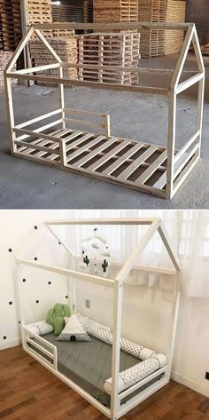 Top 25 Innovative Pallet Furniture Ideas Pallet kid bed The post Top 25 Innovative Pallet Furniture Ideas appeared first on Pallet Ideas. Baby Bedroom, Baby Room Decor, Girls Bedroom, Bedroom Size, Kid Bedrooms, Pallet Kids, Pallet Toddler Bed, Toddler Rooms, Toddler Beds For Girls