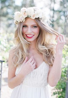 Brides: Wedding Hair: One Bride's Quest to Find the Perfect Flower Crown