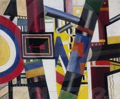 Fernand Léger French, 1881–1955 - The Railway Crossing (Sketch), 1919