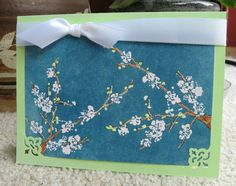 Penny Black flowering branches - beautiful card
