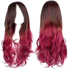 Brown and Pink Ombre Wig | $23.39