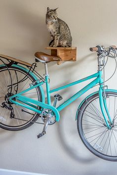 The Elk - Wall Mounted Bicycle Saddle Rack $169