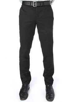 Blackbird-ZOOM: Japanese Twill Trouser (Black) $145.00