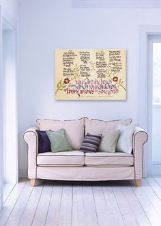 Kahlil Gibran calligraphy print on stretch canvas  will look stunning on your wall!