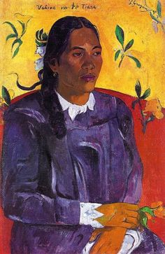 Woman with Flower (Vahine No te Tiare) by GAUGUIN, Paul