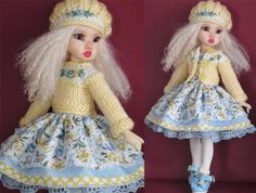 """DRESS,SWEATER,HAT&SHOES SET MADE FOR KAYE WIGGS TILLIE &SIMILAR SIZE 11""""DOLL"""