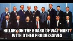 Hillary Clinton was on the Board of Directors at Walmart from 1986-1992 as it waged war on unions. Super progressive, Hill! Sanders 2016!