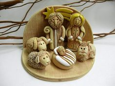 Christmas Clay, Clay Art, Polymer Clay, Sculptures, Ceramics, Crafty, Creative, Gifts, Nativity Sets