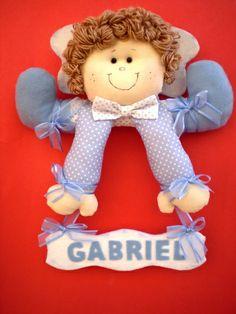 enfeite porta maternidade anjo gabriel | MALU BABY ARTES | 2DB52D - Elo7