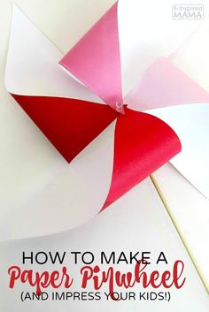 How to Make a Pinwheel - And Totally Impress Your Kids! - It's such a fun and easy craft idea for summer or for a DIY party favor or decoration, too! Cute Kids Crafts, Crafts For Kids To Make, Craft Activities For Kids, Preschool Crafts, Projects For Kids, Easy Crafts, Art For Kids, Craft Kids, Toddler Preschool