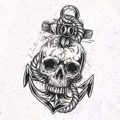 """•FURIOUS F/CKING DESIGN• Details my design """"Anchor and Skull"""" for brand @hurley . Detalhes do meu design """"Anchor and Skull"""" para essa marca foda a @hurley . Curti muito criar algumas estampas para essa marca foda. #illustration #ilustração #art #arte #design #desenho #brand #apparel #Clothing #tshirt #camiseta #regata #tanktop #anchorskull #anchor #skull #caveira #cranio #hurley #leofurious #furiousdesign"""