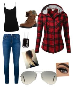 """""""Untitled #20"""" by wildharthorses ❤ liked on Polyvore featuring Frame Denim, J.TOMSON, Ray-Ban, Refresh, Essie and M&Co"""