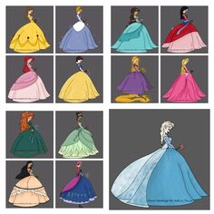 Here is a series of Disney Princesses I did about a year ago. Loved being able to creatively make them in the same style!