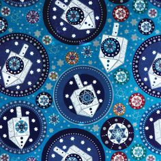 Jillson & Roberts Bulk Gift Wrap Traditional Hanukkah