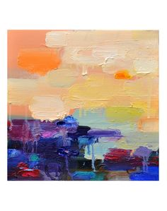 Art Giclee print 12x12 from  original oil painting  7pm by siiso, $45.00