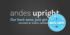 Font dňa – Andes (zľava 30%, od 20,30$) - http://detepe.sk/font-dna-andes-zlava-30-od-2030/