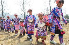 Miao Ethnic Group Celebrate Tiaohua Festival