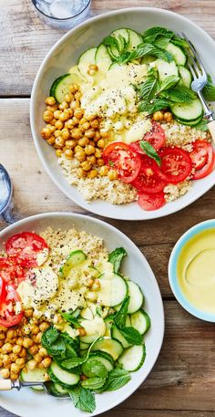 Quinoa and summer produce come together in well-balanced Summer Vitality Bowls that look good, taste good, and are good for you! Make dishes like this at home when you sign up for Martha & Marley Spoon, our new meal-kit delivery service!