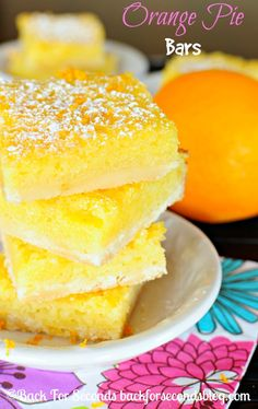 Incredible Orange Pie Bars! So refreshing and super delicious! #orange #dessert #pie