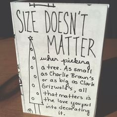 Size doesn't matter - an excerpt from Marian's Guide to Christmas #zine