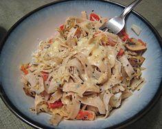 Garlic Crab Pasta With Mushroom And Tomato- Reduced Fat Recipe - Genius Kitchen Fiber Gourmet, Heath Food, Crab Pasta, Stuffed Mushrooms, Stuffed Peppers, Crab Recipes, Mushroom Pasta, Food Dishes, Fungi