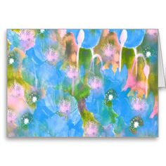 Blue Poppies Design Card