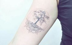 Mandala tree tattoo