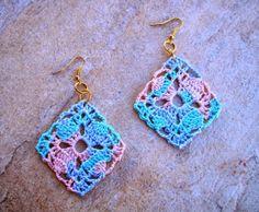 Brinco de Crochê Melissa / Earrings Crochet Melissa