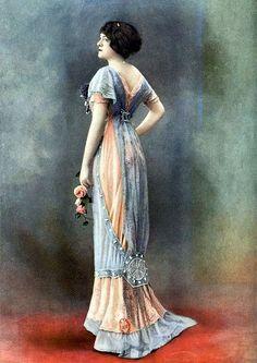 Вечернее платье от Bernard, Франция 1910 год.