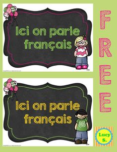 """Free Poster in French - """"Ici on parle français"""" #French #francais"""